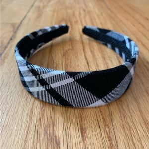 Accessories - Black & white plaid headband, NWOT